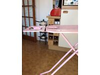 Large pink ironing board fully adjustable