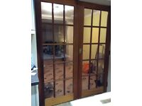 Wooden glass panelled doors REDUCED