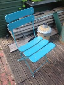 Folding Metal Patio Garden Chair