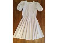 Highland Dancing - White National Dress and Tartan Plaid