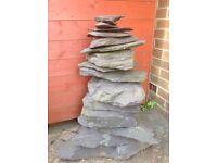Stone garden water feature