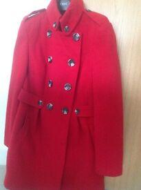 Ladies red wool coat