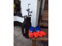 Golf set, bag, covers and balls