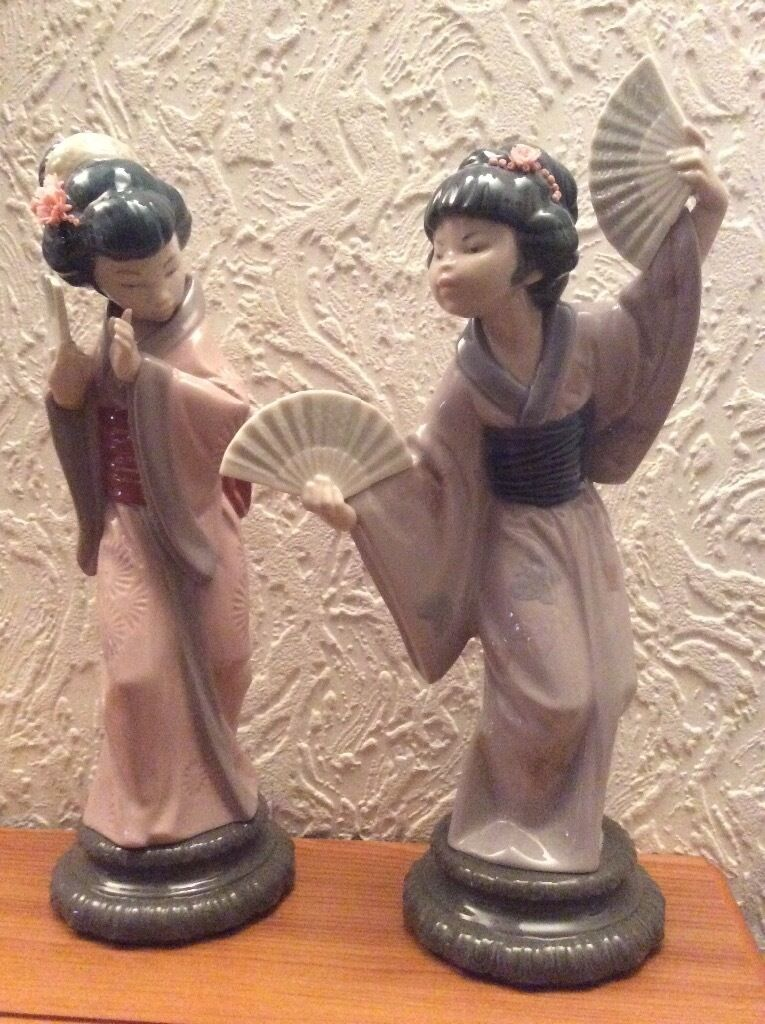 Lladro Geisha Girls Set