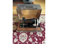 1920's Gamages sewing machine with carry case