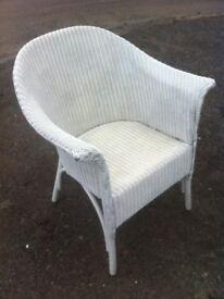 Vintage loom tub chair