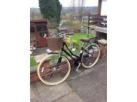 "Ladies bike Victoria Pendleton ashwell 17"" as new with basket"