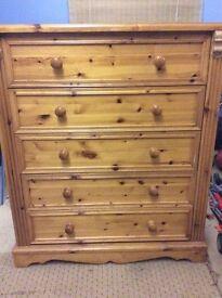 High quality set of pine drawers