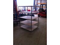 5 TIER INDUSTRIAL WAREHOUSE GARAGE SHED SINGLE BAY RAPID RACKING SHELVING UNIT