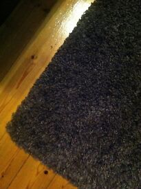Large & small brown luxury shaggy rugs