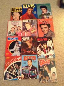 Collection of 12 Elvis Books