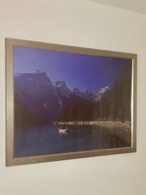 Large Framed Landscape Photo Wall Art (W: 109cm H: 84cm)