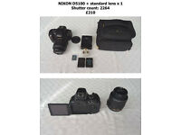 TWO NIKON D5100 FOR SALE IN EXCELLENT CONDITION (£190 EACH)