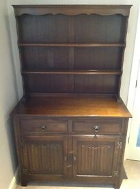 JAYCEE OAK DRESSER AND SHELF UNIT, DISPLAY / BOOK SHELVES, SIDEBOARD, POSSIBLE UPCYCLE PROJECT