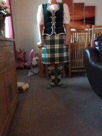 Ladies Highland Kilt Outfit