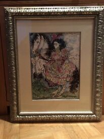 "Pablo Picasso's Authentic framed Lithograph of Pablo Picasso ""Woman on a Horse IV"" 1961."