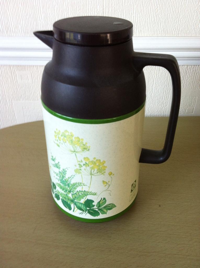 Tiger thermos jug and 2 Hilton mugs
