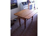 Waxed drop leave table very old (Original)