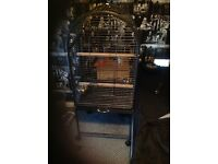 Large black parrot cage for sale its like new