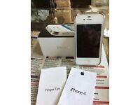 White iphone4 16gb unlocked together with 3cases and charger leads excellent condition