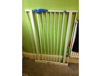 2 safty gates for sale 1 of witch is a lot higher than your standard gate