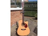 Freshman FA400DCE All solid wood Electro acoustic guitar.