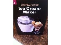 BRAND NEW Ice Cream Maker (White 1.45L) by Andrew James