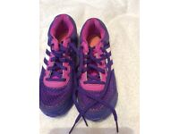Girls Adidas trainers, sized 13 used be in good condition