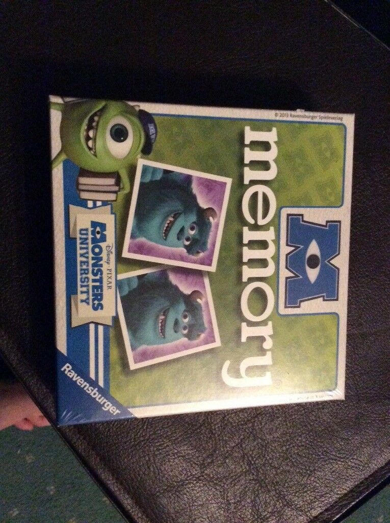 Monster university memory game. New