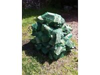 FIREWOOD, HARDWOOD LOGS Grade 1: X-Large 15kg (split weight) : net size 80cm x 50cm £5.