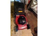 Lawn mover sovereign model 450 148 CC self parel working