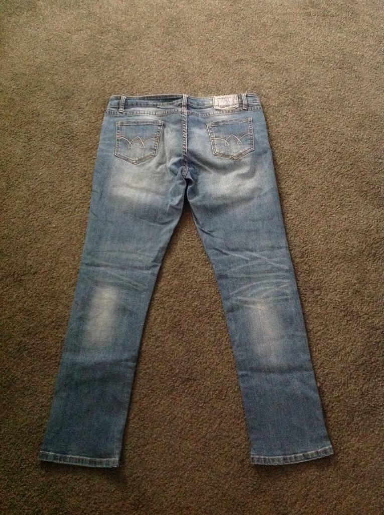 Blue Skinny Jeans with designer patches