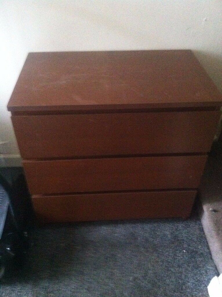 small set drawers brown