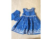 M&S Autograph dress and knickers set 3-6 months