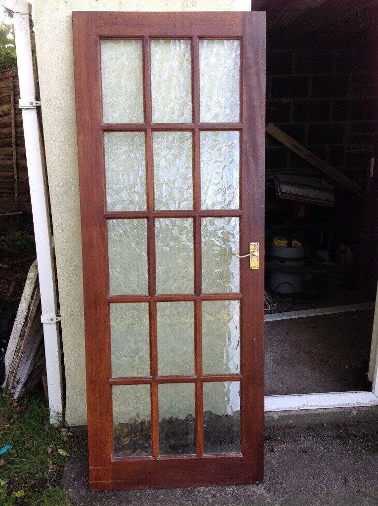 Hardwood Internal 15 Pane Door Flemish Glass