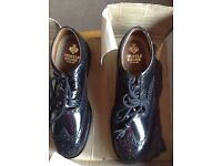 Mens black Ghillie Brogues size 11 brand new