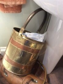 Coal bucket brass and copper