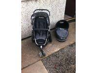 Quinny Buzz. Colour - black and silver. Good condition
