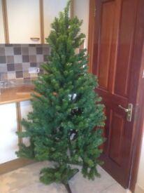 6 ft festive pine hinged branches Christmas tree B &Q