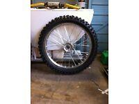 Honda front wheel & new tyre