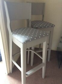 Bar or Kitchen stools in Frenchic Grey pebble