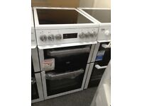 Beko 50cm double oven electric cooker. £230 new/graded 12 month Gtee