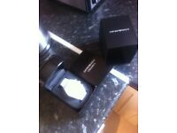 Armani White ceramic diamonds watch