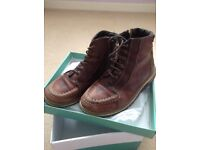 Boys brown genuine leather boots 'Jones the bootmaker' size 12.5 infant