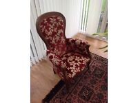 Red antique style chair