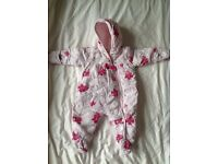 Baby girl all in one pram suit 3-6 month