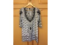 Ladies Mango tunic dress, size M