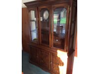 Glass fronted dining room cabinet
