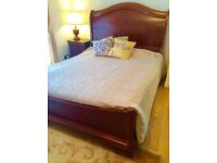 Beautiful wooden king size bed