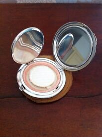 Sterling silver Ladies make up compact